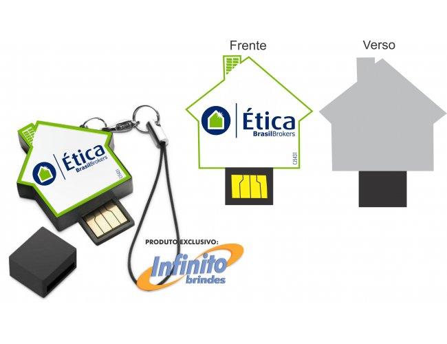 Pen drive ESTILIZADO - Modelo INF 10101 Imobiliárias