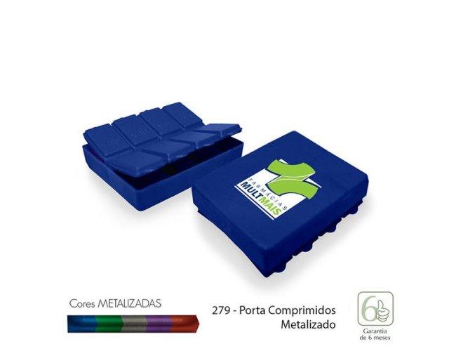 Porta Comprimidos - Modelo INF 0279 Plástico azul