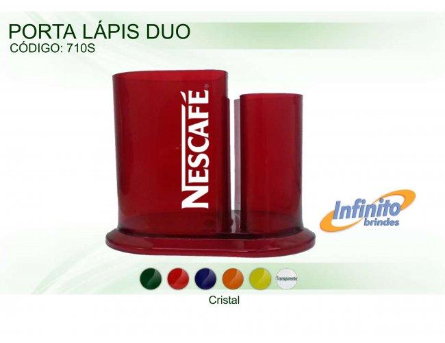 Porta Lápis Duo - Modelo INF 0710S  Duplo Cristal