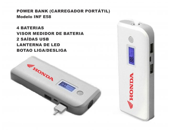 POWER BANK Carregador Portátil - MODELO INF E58