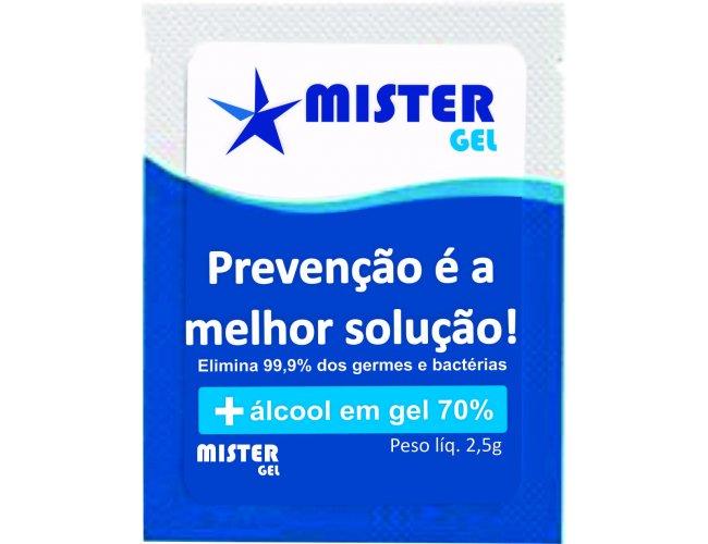 Sache de Álcool Gel 3ml  SEM PERSONALIZAÇÃO Modelo INF 301 Mistel Gel